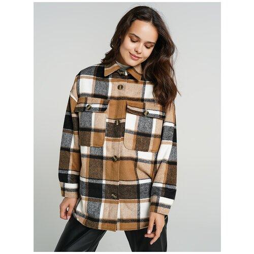 Куртка на синтепоне ТВОЕ A6661 размер XS, бежевый, WOMEN