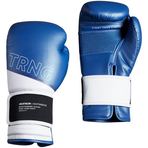 Боксерские перчатки 120 тренировочные синие Размер 8 OUTSHOCK X Декатлон Размер 8 OUTSHOCK X Декатлон