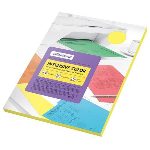 Бумага OfficeSpace A4 Intensive Color 80 г/м2 100 листов, Желтый