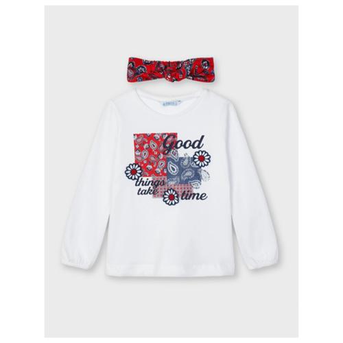Купить Комплект одежды Mayoral размер 128, белый, Комплекты и форма