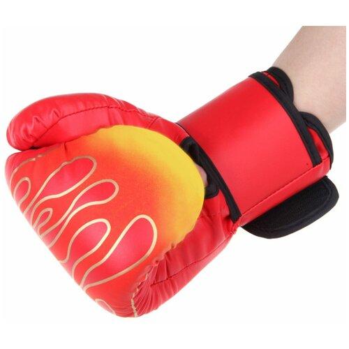 Боксерские перчатки, цвет красный, вес 8 унций, Atlanterra AT-BX-01