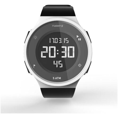 Часы-секундомер для бега с реверсивным экраном белые W500 M KALENJI X Декатлон