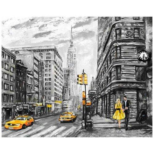 Купить Картина по номерам Столичная улица , 40x50 см, Цветной, Картины по номерам и контурам