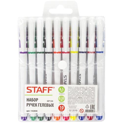 STAFF набор гелевых ручек Staff 10 цветов (142808), 142808