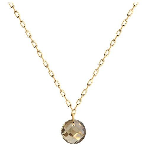SOKOLOV Колье из золота с раухтопазом 770354, 40 см, 1.37 г