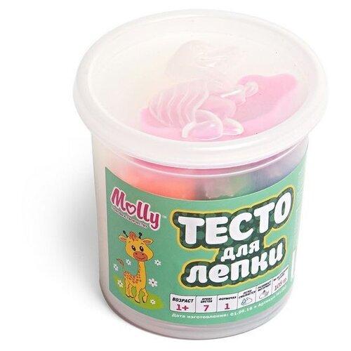 Купить Тесто для лепки 7 цветов (105 грамм) + 1 формочка, Molly, Пластилин и масса для лепки