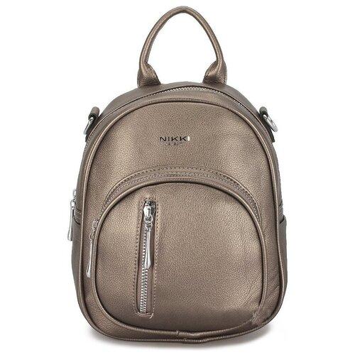 Маленькая женская сумка-рюкзак «Инса» 1255 Bronza
