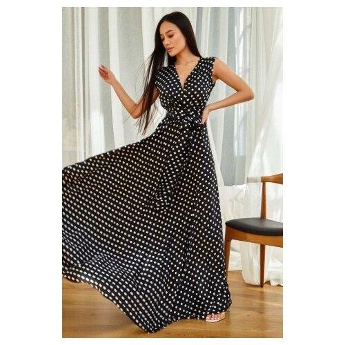 платье noisy may 27006197 женское цвет мультиколор mandarin red полоски р р 44 s Платье женское Миллена Шарм Таис Lр-р (S-XL размерный ряд) черный