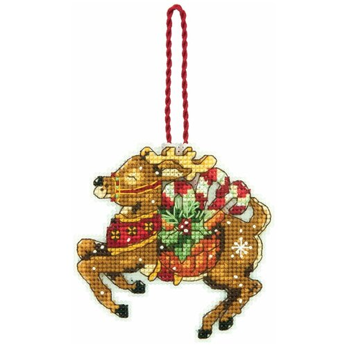 Dimensions Набор для вышивания крестиком Северный олень, украшение 8 х 8 см (70-08916)