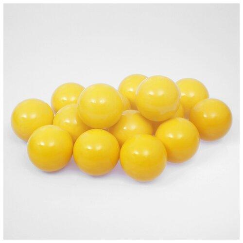 Шарики для сухого бассейна Соломон с рисунком, d 7,5 см, 500 штук, цвет желтый