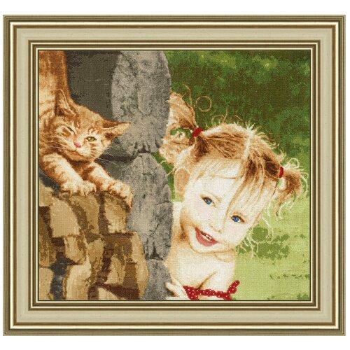 Купить Золотое Руно Набор для вышивания Озорница 38, 3 х 35 см (ЧМ-058), Наборы для вышивания