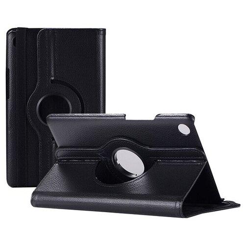 Чехол-подставка MyPads для Huawei MediaPad M2 8.0 LTE (M2-801W M2-803L) на пластиковой основе кожаный поворотный роторный оборотный с трансформацией в подставку черный
