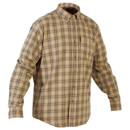 Рубашка муж. для охоты 100 SOLOGNAC х Decathlon Беж 3XL