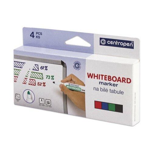 Купить Маркеры стираемые для белой доски набор 4 цвета CENTROPEN Dry-Wipe , 2, 5 мм, 8559/4, 5 8559 0401, 1 шт.