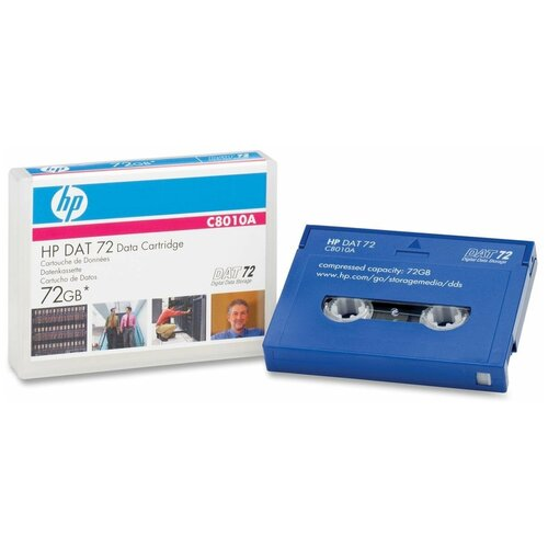 Фото - Картридж HP DAT 72 72GB 170m Data Cartridge (C8010A) магнитная лента незаписанная hpe hp lto 6 ultrium 6 25tb rw data tape