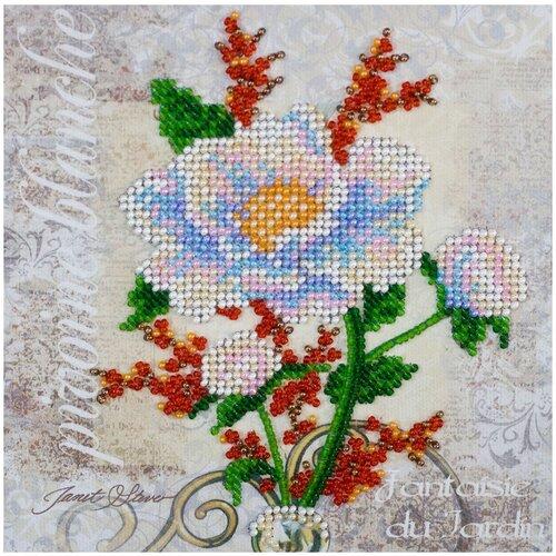 Купить Набор для вышивания бисером АБРИС АРТ AM-173 Белый цветок 15х15см, ABRIS ART, Наборы для вышивания