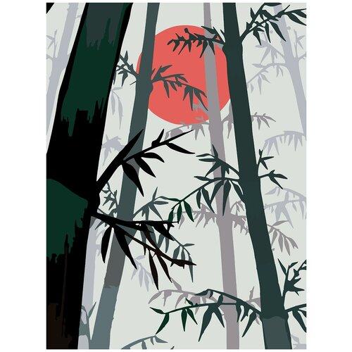 Купить Картина по номерам Бамбук минимализм, 80 х 100 см, Красиво Красим, Картины по номерам и контурам