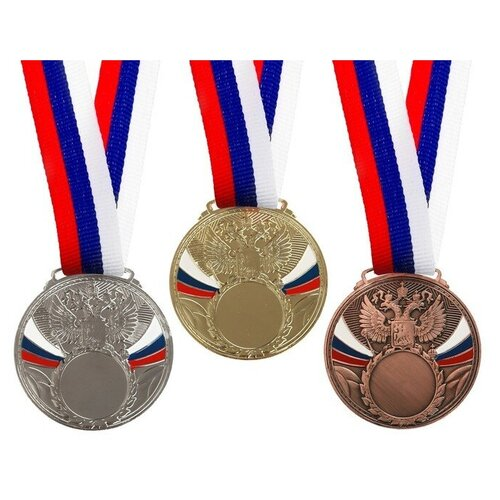 Медаль под нанесение 065 диам 6 см. Цвет сер 3678301