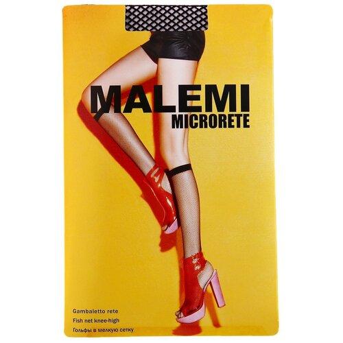 Капроновые гольфы Malemi Microrete gb, размер ONE SIZE, nero
