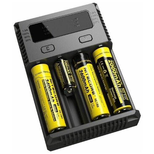 Фото - NiteCore Зарядное устройство NITECORE NEW I4 18650/16340 на 4*АКБ зарядное устройство nitecore new i4 15364