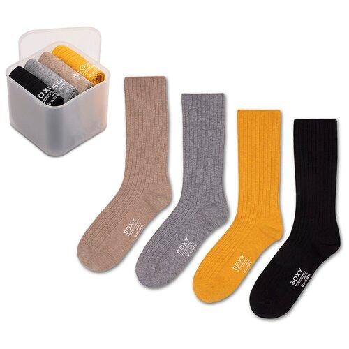 Женские классические демисезонные носки Soxy / комплект 5 пар в пластиковом боксе
