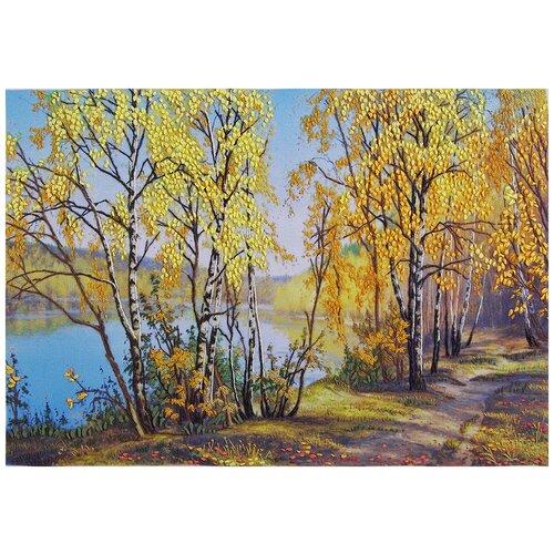 Купить PANNA Набор для вышивания Живая картина Золотая роща 28, 5 х 19, 5 см (JK-2059), Наборы для вышивания