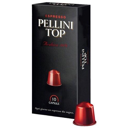 Кофе в капсулах Pellini Top 100% Arabica, 10 капс. кофе в капсулах pellini arabica для кофемашины nespresso 10 капсул