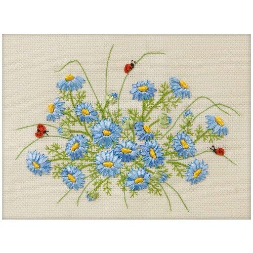 Купить PANNA Набор для вышивания нитками и лентами Нежность утра 21 x 17 см (Ц-1102), Наборы для вышивания