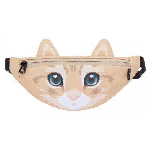 Поясная сумка Grizzly, текстиль, кошка песочная