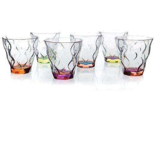 Набор стаканов для виски RCR Riflessi Bicolour Цветные 300 мл (6 шт) набор стаканов для виски rcr riflessi bicolour цветные 300 мл 6 шт
