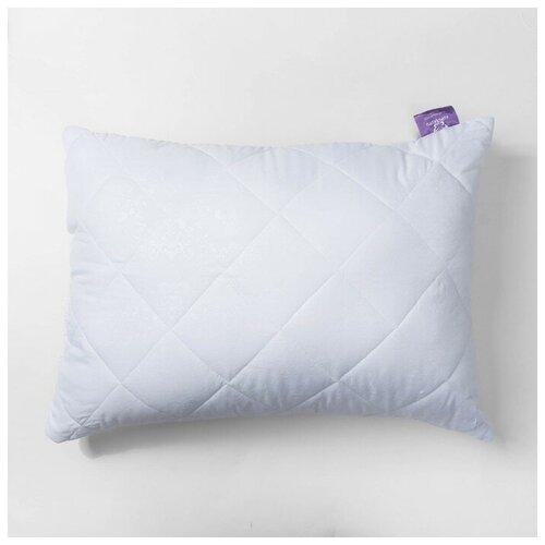 Подушка Бамбук высокая 68х68 см белый, бамбук/силиконизированное волокно, микрофибра, пэ100%