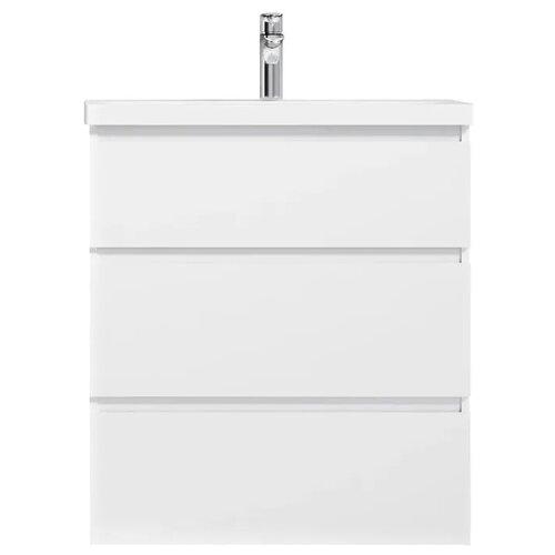 Фото - Тумба для ванной комнаты с раковиной AM.PM Gem S напольная (глянец), ШхГхВ: 75х42.5х81 см, цвет: белый глянец тумба для ванной комнаты с раковиной am pm like напольная шхгхв 80х45х85 см цвет белый глянец