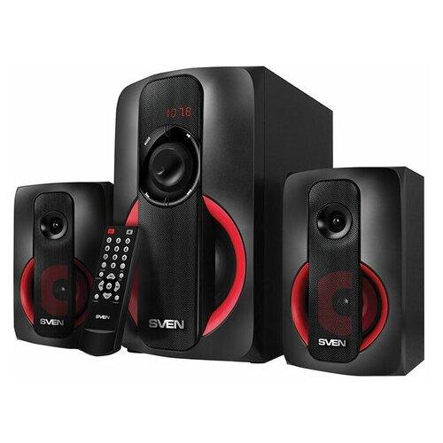 Колонки компьютерные SVEN AC MS-304 2.1 40 Вт FM USB SD MP3-плеер Bluetooth дерево черные SV-015602 1 шт.