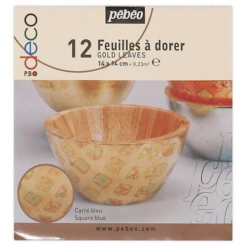 Купить PEBEO Набор листовой потали 14 x 14 см 12 шт. 094216 голубой квадрат, Наборы для декупажа