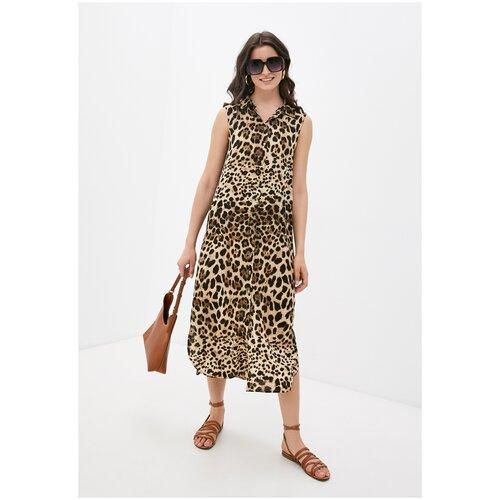 Платье - туника из вискозы Sunrise (PM France 221) размер 2XL (52), леопард