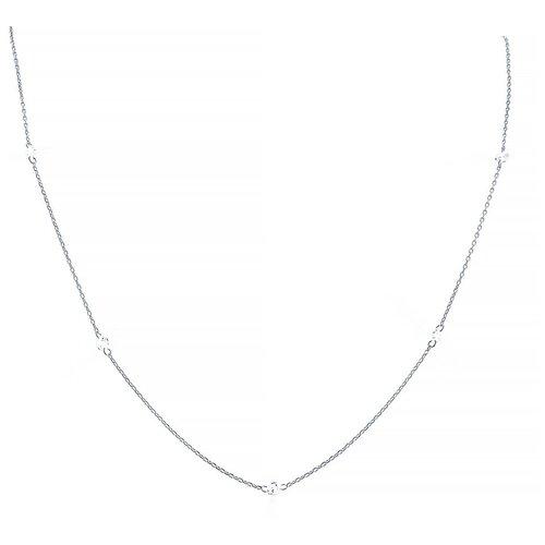 ELEMENT47 Колье из серебра 925 пробы с фианитами 10487N_KL_001_WG, 45 см