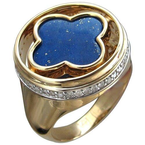 Эстет Кольцо с лазуритом и бриллиантами из жёлтого золота 01К6313305-2, размер 17 эстет кольцо с лазуритом и бриллиантами из жёлтого золота 01к6313305 2 размер 17