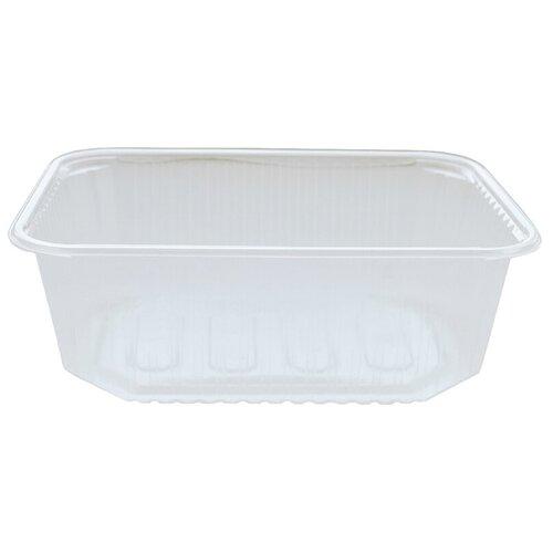 Контейнеры пищевые одноразовые Контейнеры одноразовые OfficeClean 1000мл, набор 100шт., без крышек, 186*132*65мм, ПП, прозрачные