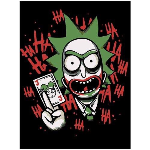 Купить Картина по номерам RM - Joker Rick, 70 х 90 см, Красиво Красим, Картины по номерам и контурам