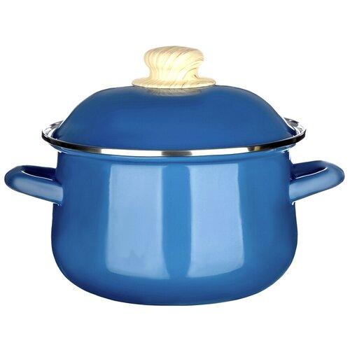 Кастрюля Vetta Глянец, 2 л, синий чайник vetta глянец 847069 2 7 л