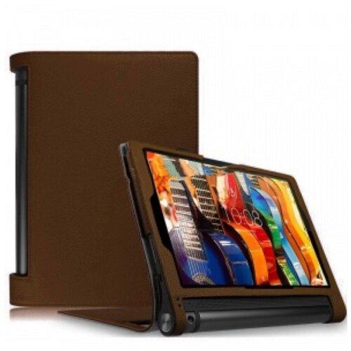 Чехол подставка MyPads для Lenovo Yoga Tablet 10 3 16Gb 4G (YT3-X50M /X50L/ ZA0K0006RU) 10.1 коричневый из искусственной кожи
