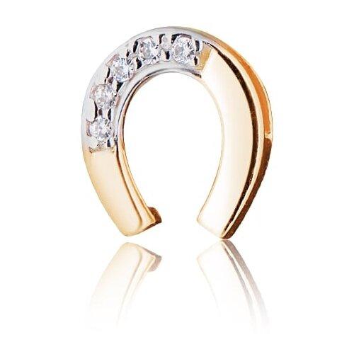 Фото - Ювелир Карат Подвеска золотая с фианитами Подкова 1138423 jeweller karat подвеска золотая с фианитами подкова 1137438 1