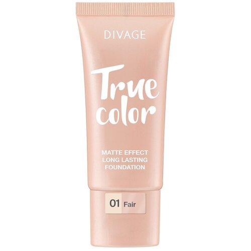 DIVAGE Тональный крем True Color, 25 мл, оттенок: 01 fair