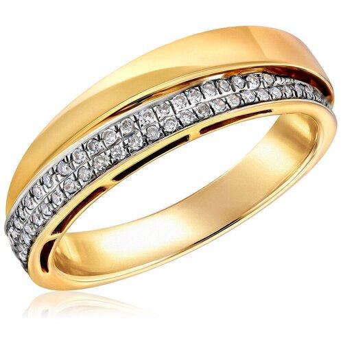 Бронницкий Ювелир Кольцо из желтого золота мзHF04576R-Y, размер 17