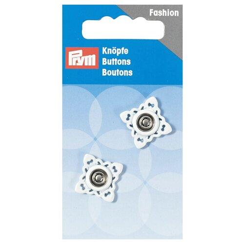 Фото - Prym Кнопки пришивные квадратные (341934, 341935), белый, 21 мм, 2 шт. prym кнопки пришивные квадратные 347125 белый 9 мм 15 шт