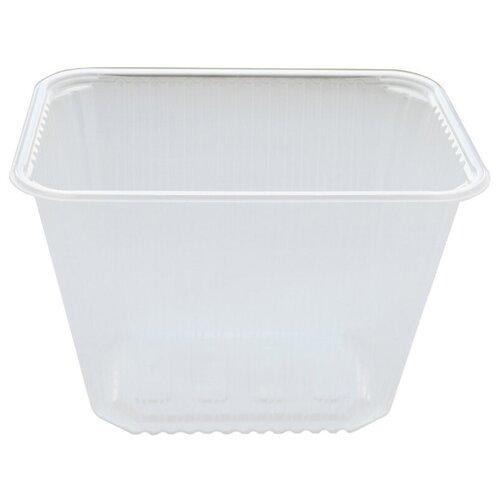 Контейнеры пищевые одноразовые Контейнеры одноразовые OfficeClean 2000мл, набор 100шт., без крышек, 186*132*134мм, ПП, прозрачные