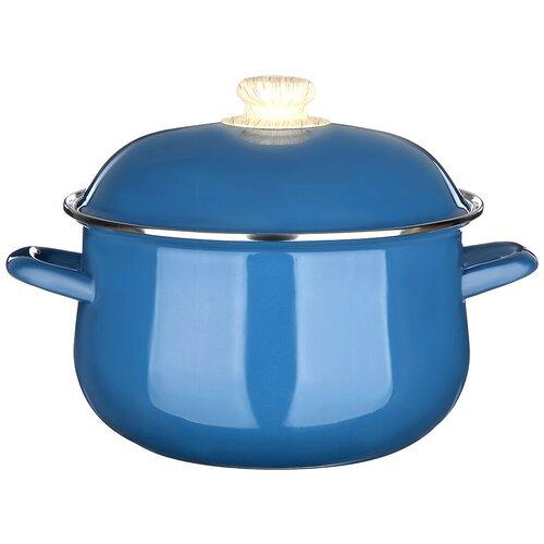 Кастрюля Vetta Глянец, 3.6 л, синий чайник vetta глянец 847069 2 7 л