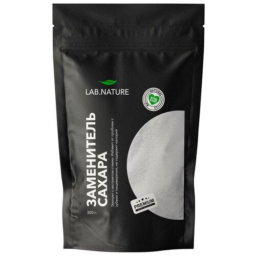 LAB NATURE / Натуральный сахарозаменитель Стевия / Подсластитель с эритритом для снижения веса, 300 грамм