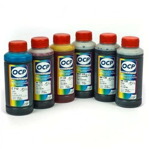 Фото - Чернила (краска) OCP для принтеров Canon PIXMA: MG6340, MG7140, MG7540, iP8740 100x6 чернила краска для заправки принтера canon pixma g4410 набор черный 250