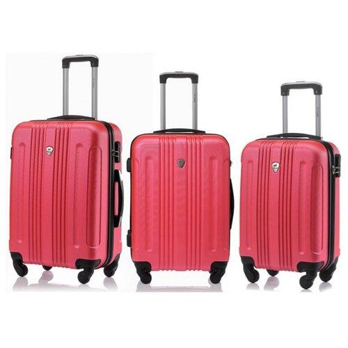 Комплект чемоданов L'case Bangkok Peach pink (Розовый) Комп. 3 шт. с расширением